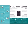 Healthy lifestyle infographic flat vector image