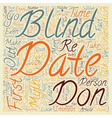 how to survive and enjoy a blind date text vector image vector image