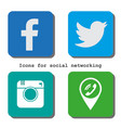 icons for social networking in flat design vector image vector image
