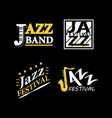 jazz club musical live festival sax and vector image