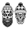 lumberjack skulls two style vector image