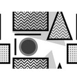memphis seamless pattern black and white vector image vector image