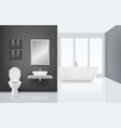 modern bathroom interior toilet sink washing vector image