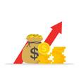 money profit high growth revenue arrow show vector image vector image