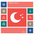 moon stars icon elements for your design vector image