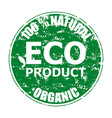 natural eco product organic rubber stamp vector image vector image