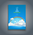nature template with sky vector image vector image