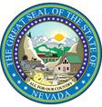 Nevada seal vector image vector image