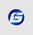 number 6 logo logotype design vector image vector image