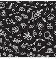 old school tattoo seamless pattern on dark vector image vector image