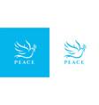 peace dove logo icon vector image