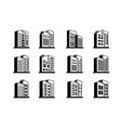 perspective line company icons and black vector image vector image