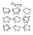 pig logo set vector image