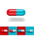 Pills in red and blue vector image vector image