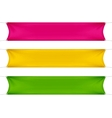 Red Yellow and Green Blank Empty Banners vector image vector image