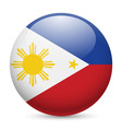 Round glossy icon of philippines vector image vector image