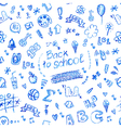 seamless doodle school pattern vector image vector image
