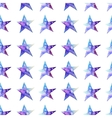 Seamless pattern of Colorful watercolor star icon vector image vector image