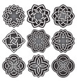 set of logo symbols in celtic knots style vector image vector image