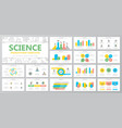 set of science and research elements for vector image vector image