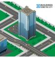 skyscraper on street vector image