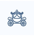 Wedding carriage sketch icon vector image vector image