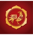 year rooster chinese calendar gold frame vector image vector image