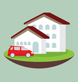 icon dream luxury house and car business concept vector image
