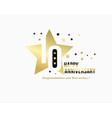 10 anniversary starry emblem celebration label vector image vector image