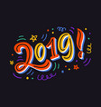 2019 bright colorful poster banner greeting card vector image