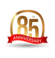 85 years anniversary experience gold label with vector image vector image