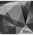 Abstract Dark Grey Geometric Background vector image vector image