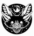 bat muzzle black vector image vector image