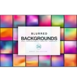 Blurred backgrounds vector image vector image