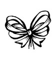 bow in sketch style hand drawn isolated vector image vector image