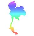 bright pixel thailand map vector image vector image