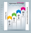 business step paper chart and numbers vector image vector image