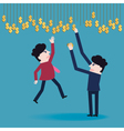 Businessman collect money vector image