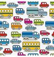 Cartoon retro cars seamless pattern vector image