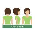 chin length hair vector image vector image