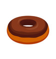 chocolate glaze donut cartoon flat style vector image vector image