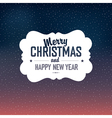 Christmas design with snow background vector image