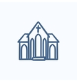 Church sketch icon vector image vector image