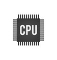 cpu central processing unit computer chip or vector image vector image