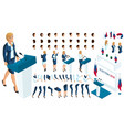 create your isometric character 3d woman vector image vector image