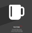 cup coffee or tea icon symbol Flat modern web vector image