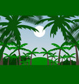 deep amazon green jungle background vector image