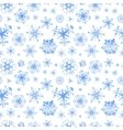 Different snowflakes on white winter background