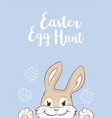 easter bunny with eggs easter egg hunt vector image vector image