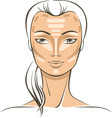 Face Sculpting tutorial vector image vector image